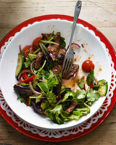 how to cook thai beef salad dressing